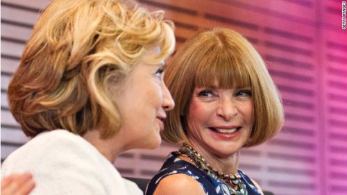 Hillary Clinton and Anna Wintour honoring Oscar de la Renta at the William J. Clinton Presidential Center Photo: Wesley Hitt/Getty Images