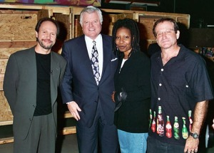 Billy Crystal, Ted Kennedy, Whoopi Goldberg, Robin Williams - HBO's 7th Annual Comic Relief, 1995 Photo Credit: Jeff Kravitz/FilmMagic.com