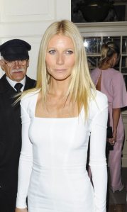 Gwyneth Paltrow at an Obama fundraiser in London in 2012.  Photocredit: Startraks